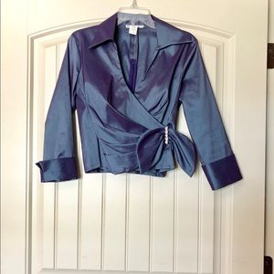 U3 Collection Cropped Purple Formal Jacket Size 6